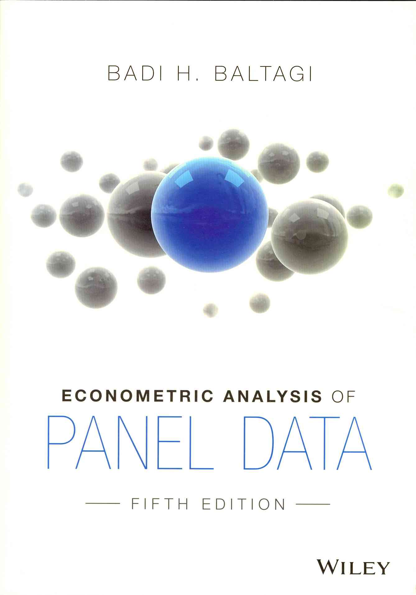 Econometric Analysis of Panel Data By Baltagi, Badi H.